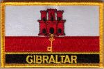 Gibraltar Embroidered Flag Patch, style 09